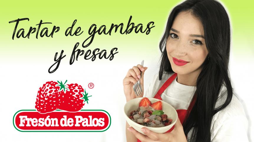 Recetas con Fresas: Tartar de gambas y fresas