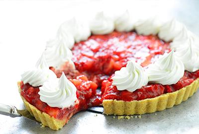 Strawberry Pie de fresón de palos